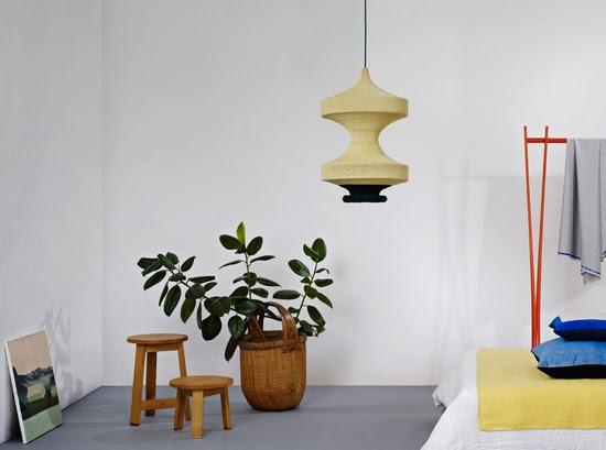Naomi Paul - indoor plants, crocheted lights, painting