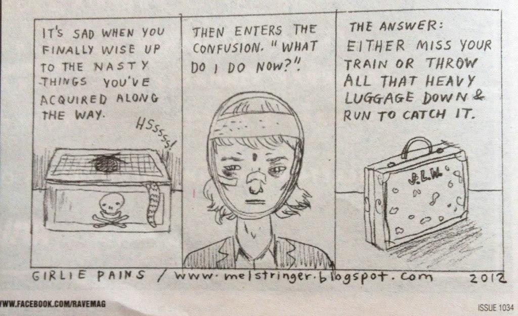 Girlie Pains Emotional Baggage Comic
