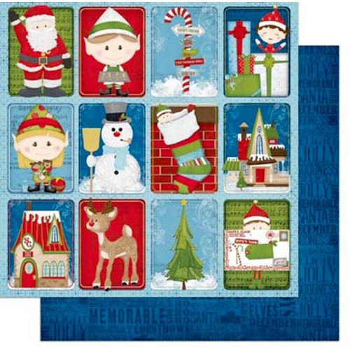 Elf Magic Characters Patterned Paper by BoBunny