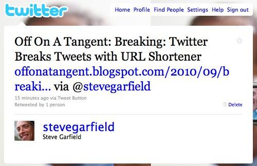 Twitter Broken URL
