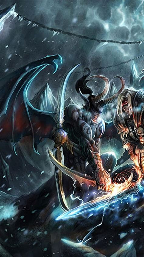 warcraft illidan stormrage arthas frozen throne
