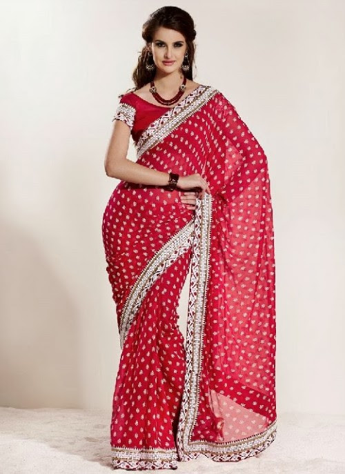 Beautiful-Girls-Women-Wear-Christmas-Exclusive-Saree-Dress-New-Fashion-Red-Suits-Design-16