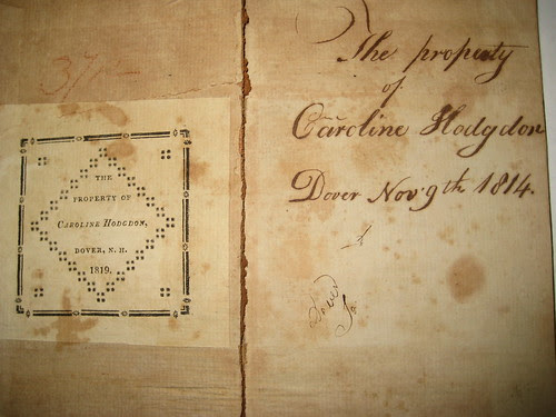 CAROLINE HODGDON DOVER, NEW HAMPSHIRE NOVEMBER 9TH, 1814