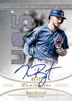 2017 Topps Luminaries Baseball Home RUn Kings Autograph Relic