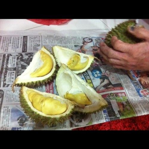 Got durian again tonight! Muhahahahaha!!! (Taken with instagram)