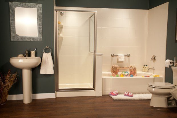 Bathroom safety design for aging generations includes grab ...