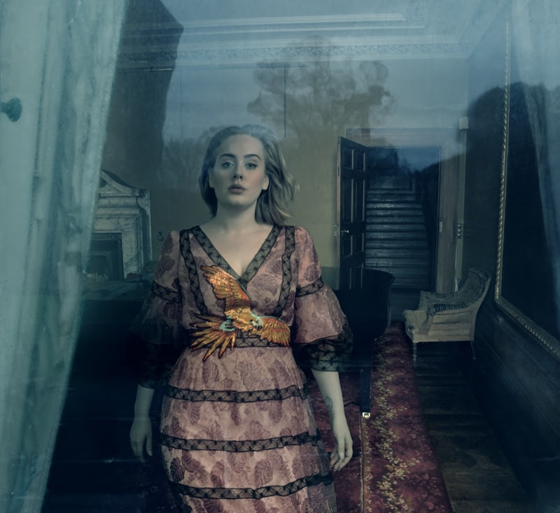 Adele wears a Gucci gown in her Vogue cover story