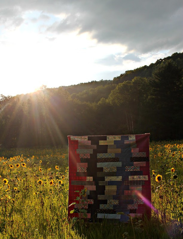 Shelburne Falls Quilt At Sunset