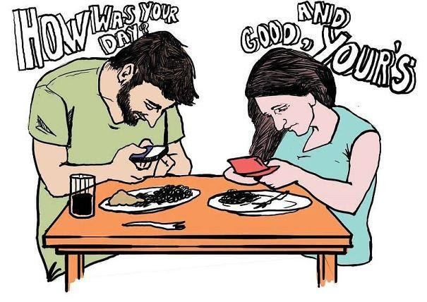 smartphone addiction illustrations cartoons 15 605 Το τέλος της αληθινής επικοινωνίας: 22 Εικόνες που δείχνουν πως τα «έξυπνα» κινητά άλλαξαν (προς το χειρότερο) τις ζωές μας.