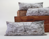Driftwood pillow - made to order - decorative pillow - wood print - Plantillo