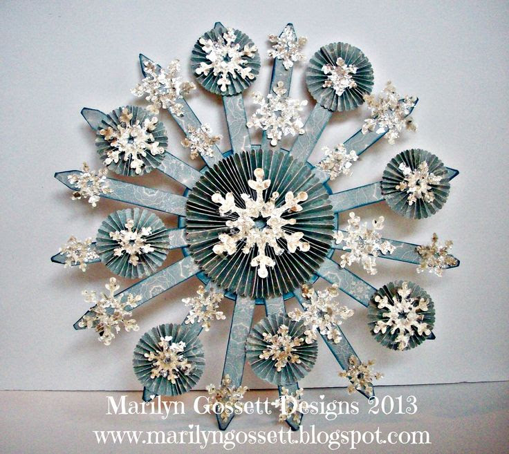 Create this snow burst for your Christmas Decor! www.marilyngossett.blogspot.com