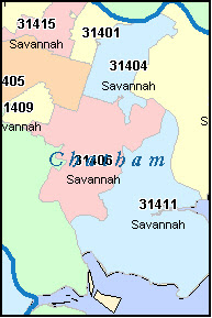 Zip Code Map Of Georgia.Savannah Ga Zip Code Map World Map Gray