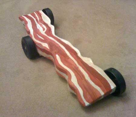 Bacon car pinewood