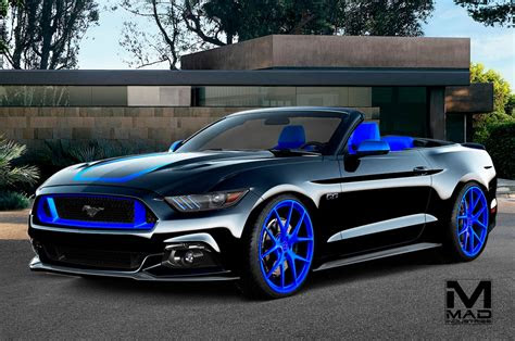 modified  ford mustangs heading  sema motor