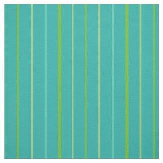 Custom Spring Stripes on Teal Pattern Fabric