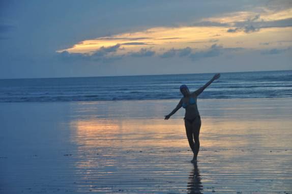 Pôr-do-sol na praia de Jericoacoara - CE