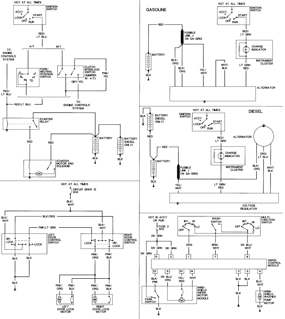 2002 Chrysler Town Amp Country Fuse Diagram