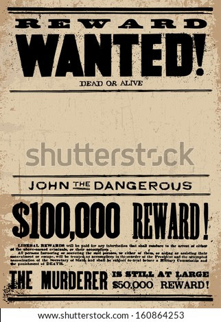 Wanted Poster Stock Photos, Royalty-Free Images & Vectors ...