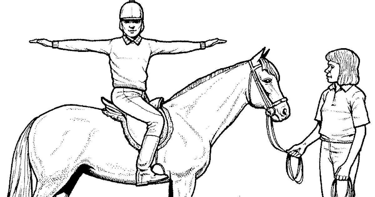 ausmalbilder pferde mit reiterin ausmalbilder pferde