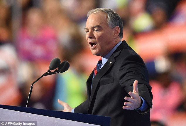 Sen. Tim Kaine used his convention speech tonight in Philadelphia to introduce himself to the American people saying he never expected to be there
