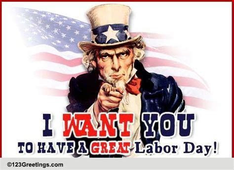 Uncle Sam Labor Day Wishes! Free Happy Labor Day eCards