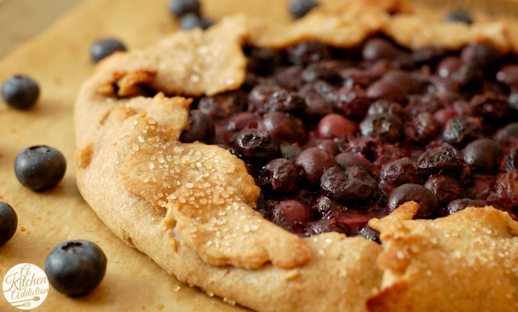 Blueberry Cream Cheese Crostata Recipe l www.a-kitchen-addiction.com