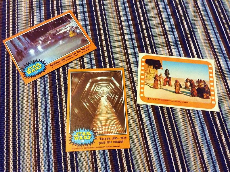 star wars 1997 trading cards series 5 orange topps