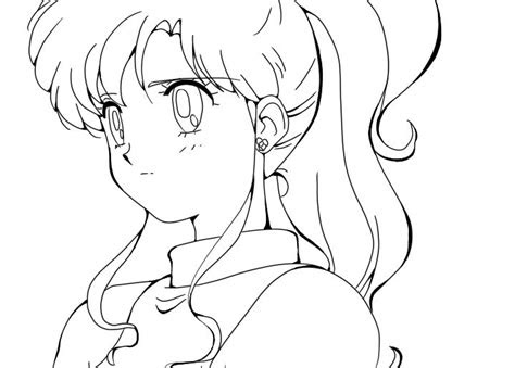 anime coloring page  sailor jupitermakoto kino