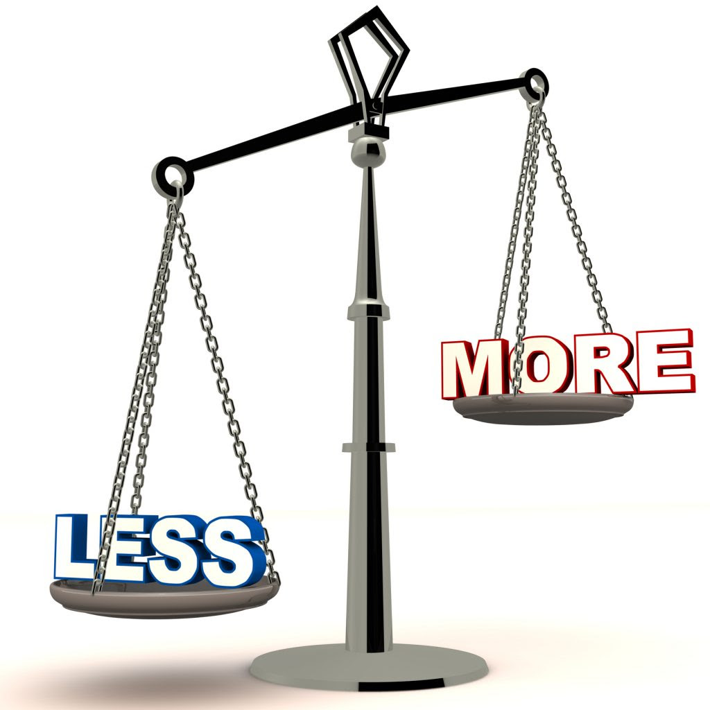 Less is More Means Success