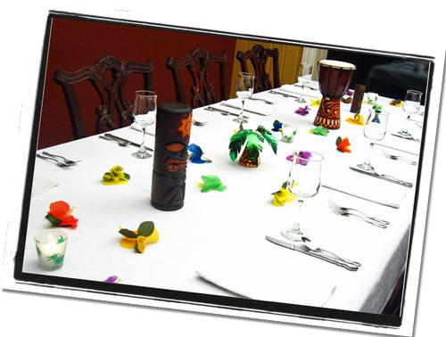 Hawaiian Luau Centerpieces   Tropical Reception & Banquet Table