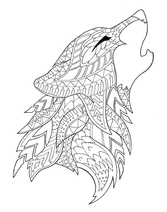 Wolf Howling Coloring Pages at GetColorings.com | Free ...
