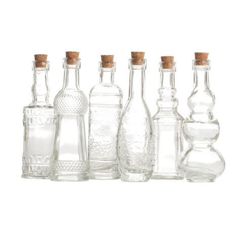 4.5 Clear Glass Bottle Assortment (12 Bottles) [57/9205