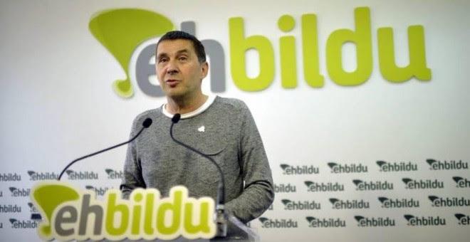 """La formación izquierdista alemana considera que Arnaldo Otegi debería poder presentarse como candidato de EH Bildu a lehendakari, en unas elecciones """"limpias"""". / EFE"""