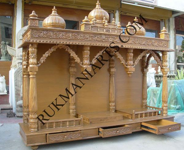 Code 26 Wooden Carved Teakwood Temple Mandir Furniture Models Pictures Wooden Pooja Temple Pooja Mandir Home Designs Hindu Mandap Puja Temple Mandiram Mandapam Hand Carved Teakwood Indian Design Shop Buy