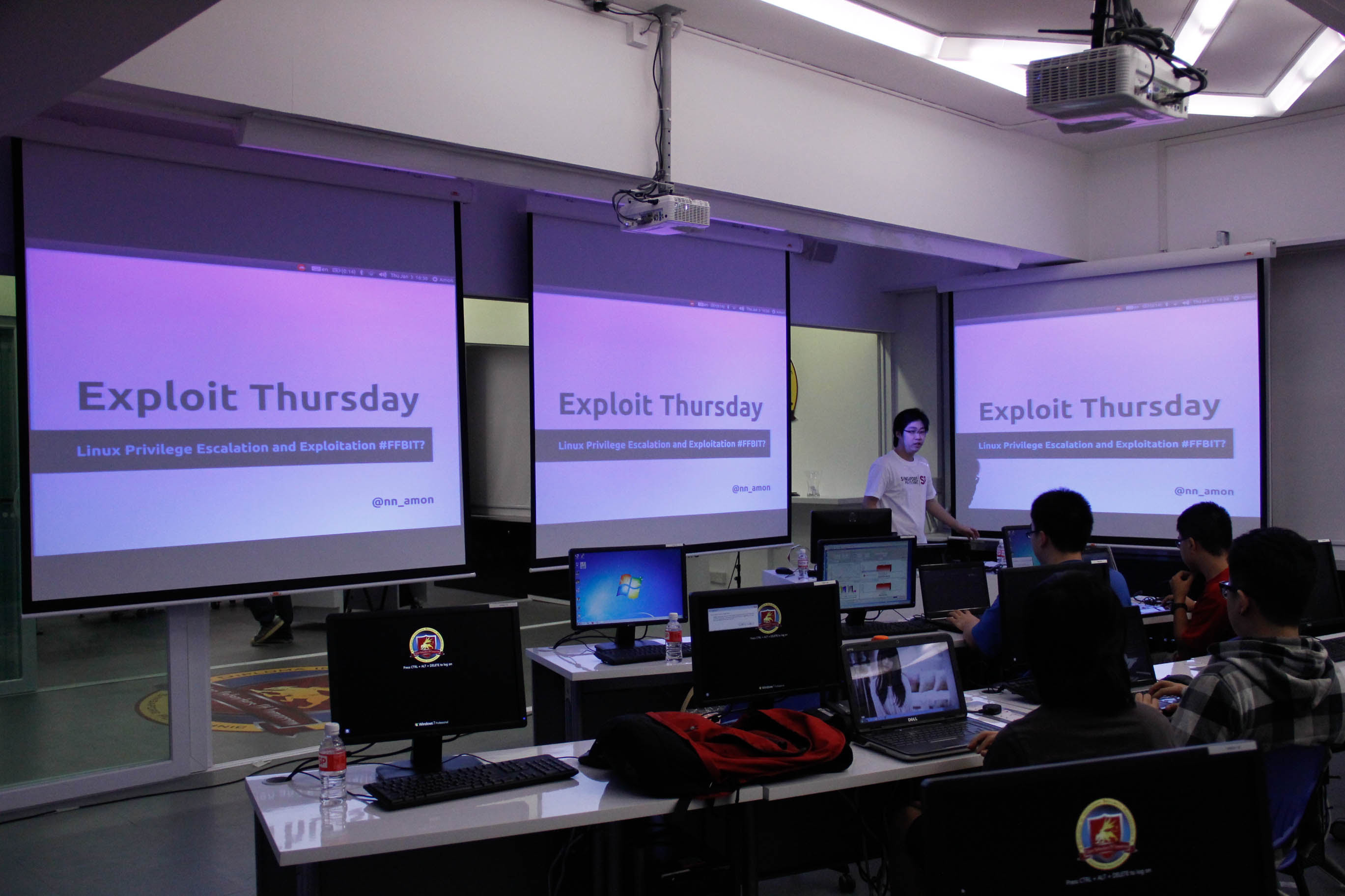 A closed session workshop on exploits and privilege escalation