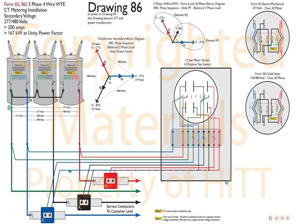 13 Jaw Meter Socket Wiring Diagram