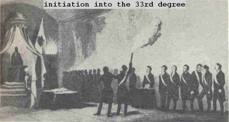 The reception of a mason into the 33rd degree