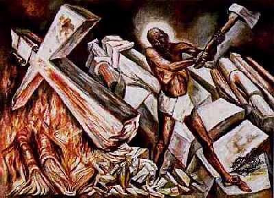 Image result for Orozco Christ Destroying His Cross (1931),