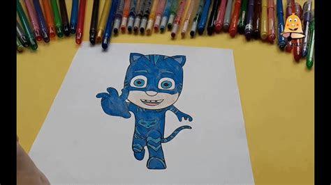 pijamaskeliler kedi cocuk boyama pjmasks catboy coloring