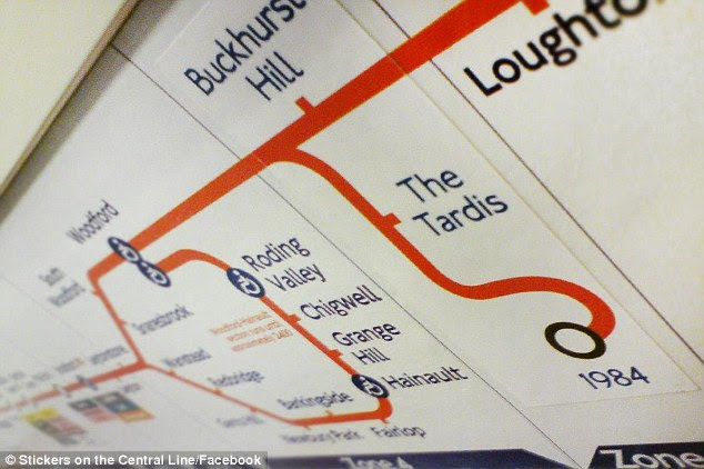 Time-travel: Joke Tube station The Tardis takes commuters back to 1984