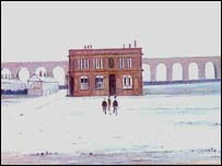 The Viaduct by LS Lowry