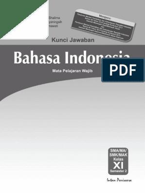 Kunci Jawaban Buku Paket Bahasa Indonesia Kelas 11 ...