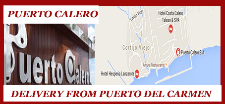Puerto Calero , Takeaway food Lanzarote. Delivery available from Puerto del Carmen. Free Takeaway Delivery lanzarote, Lanzarote. Pizza, Kebab, chinese, sushi, indian Takeaways.