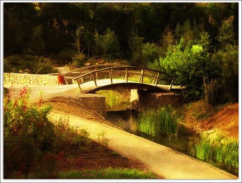 el puente sobre el riachuelo