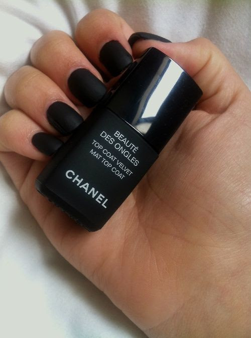 black Chanel nail polish