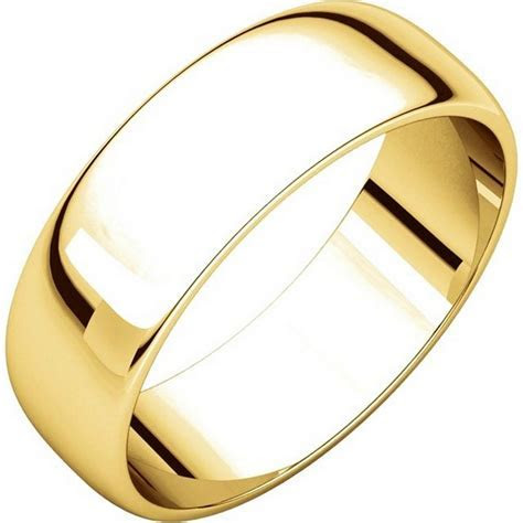 116821E 18K Yellow Gold 6 mm Wide Wedding Ring