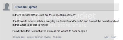 Right Wing Racism in comments