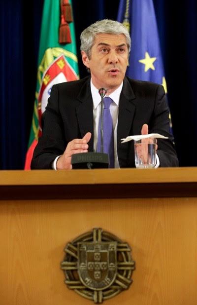 Sócrates anunciando o novo pacote de medidas de austeridade - Foto da Lusa