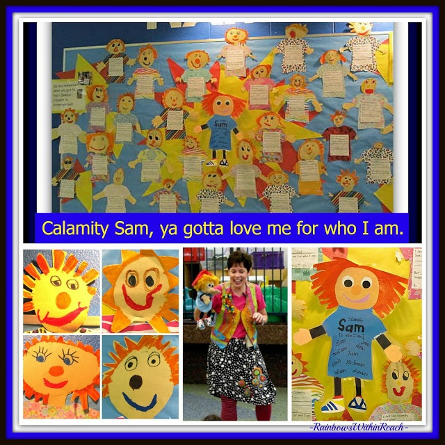 "photo of: ""Calamity Sam"" Bulletin Board and Writing Project at RainbowsWithinReach"