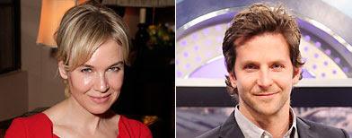 (L-R) Renee Zellweger (Jeff Vespa/WireImage.com); Bradley Cooper (Johnny Nunez/WireImage.com)